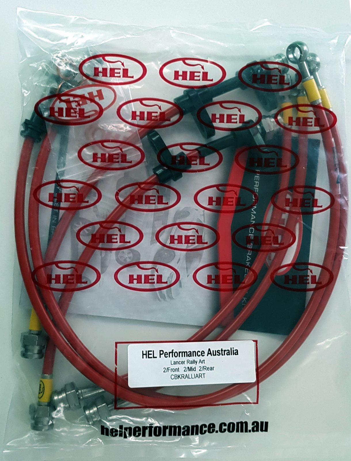 Hel Performance Braided Brake Pipe Hoses Mitsubishi Evolution Evo 9 Fronts